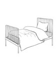 Kids bunk bed doodle style sketch vector image