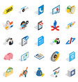 law icons set isometric style vector image vector image