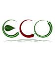 logo on theme ecology energy saving vector image vector image