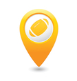 Map pointer with american football icon