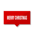 merry christmas red tag vector image