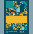 minimal covers procedural design vector image vector image