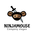 Ninja Mouse Design vector image