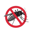 No mosquito sign isolated on white background vector image vector image