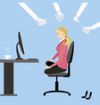 office workers or business people working vector image vector image