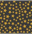 orange stars pattern vector image vector image
