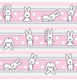 pattern with rabbit vector image