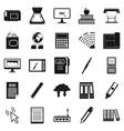 portfolio icons set simple style vector image vector image