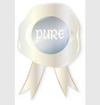 pure stamp vector image