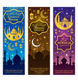 ramadan kareem lantern mosque lamp and moon vector image vector image