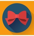 red bow icon Flat designed style vector image vector image
