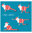 santa claus doing yoga isolated for design vector image vector image