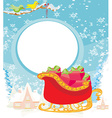 Santas Sledge vector image vector image
