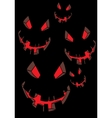 scary face vector image vector image