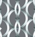 Seamless bold silver rings geometrics pattern vector image vector image