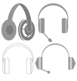 Set of Headphones vector image vector image