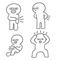 set of pain people vector image vector image