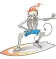 skeleton surfer vector image vector image
