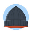 skullcap clothing fashion flat icon design vector image vector image