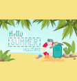 summer beach vacation concept seaside sand vector image vector image