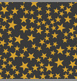 the orange stars pattern vector image vector image