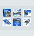 travel social media post design template vector image