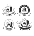 Vintage laundry service dry clean labels vector image vector image