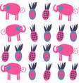 vivid abstract nature elephants seamless pattern vector image