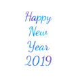 watercolor happy new year brush lettering text vector image vector image