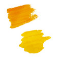 yellow blots isolated vector image vector image