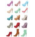 female shoes set vector image