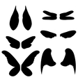 wings of different animals vector image