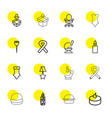 16 one icons vector image vector image