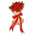 A simple drawing of a bridal boquet vector image