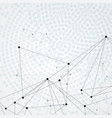 actual network connections with dots and lines vector image vector image