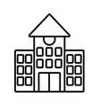 back to school education building college vector image
