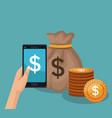 bank online application vector image vector image