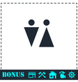 Bathroom icon flat vector image
