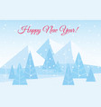 beautiful christmas winter vector image vector image