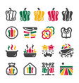 bell pepper icon set vector image vector image