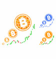 bitcoin inflation chart mosaic icon round dots vector image vector image