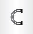 black letter c font icon design vector image vector image