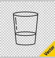 Black line glass with water icon isolated on