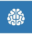 Brain Icon on Blue Background vector image vector image
