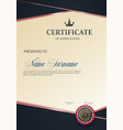 certificate of appreciation template trend style vector image
