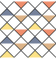 checkered abstract colored triangles seamless vector image vector image