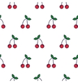 Cherry line icon seamless pattern vector image vector image