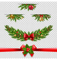 christmas garland big collection transparent vector image vector image