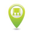 cinema icon green map pointer vector image vector image