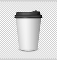coffee cup on transparent background vector image vector image